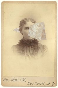 Tom Butler | WM Nims | 2014 | Gouache on Albumen print | 16.5×10.5cm