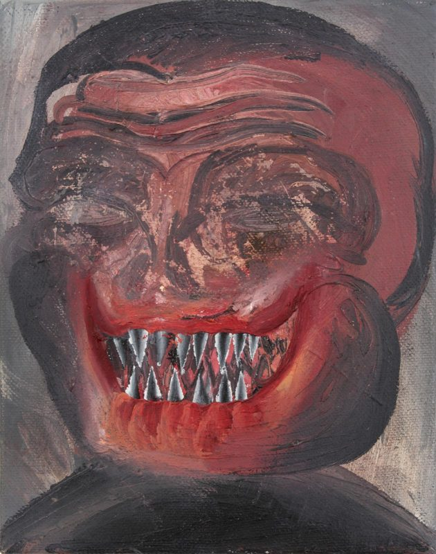 Sebastian Gogel | Das Face | 2007 | Oil on canvas | 29x23cm