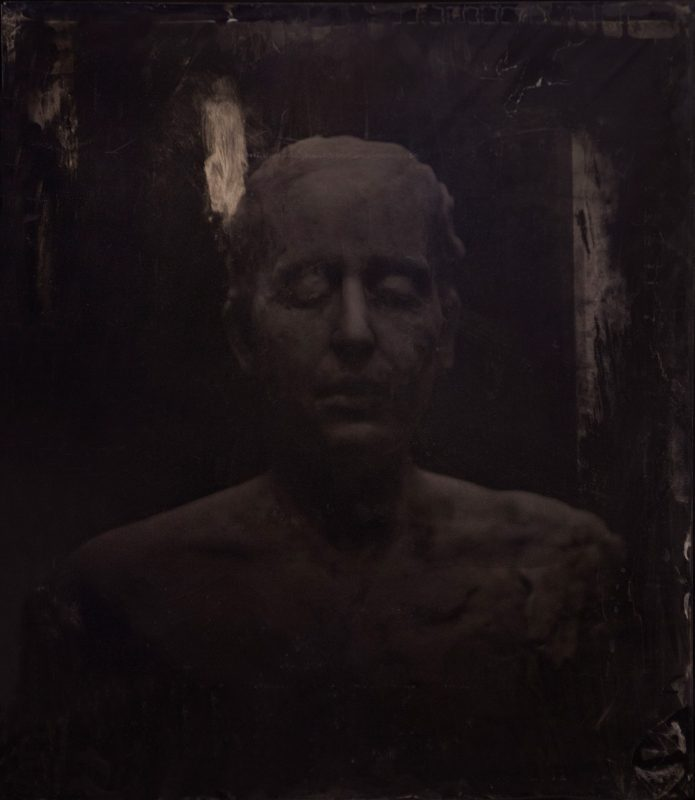 Virgile Ittah | And new sleep had that deprived memory | 2013 | Ambrotype, black wax | (Detail) 60x50cm | (1111×1280)