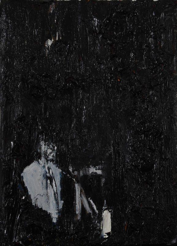 Luke Jackson | Decades | 2012 | Oil & mixed media on canvas | 21x15cm