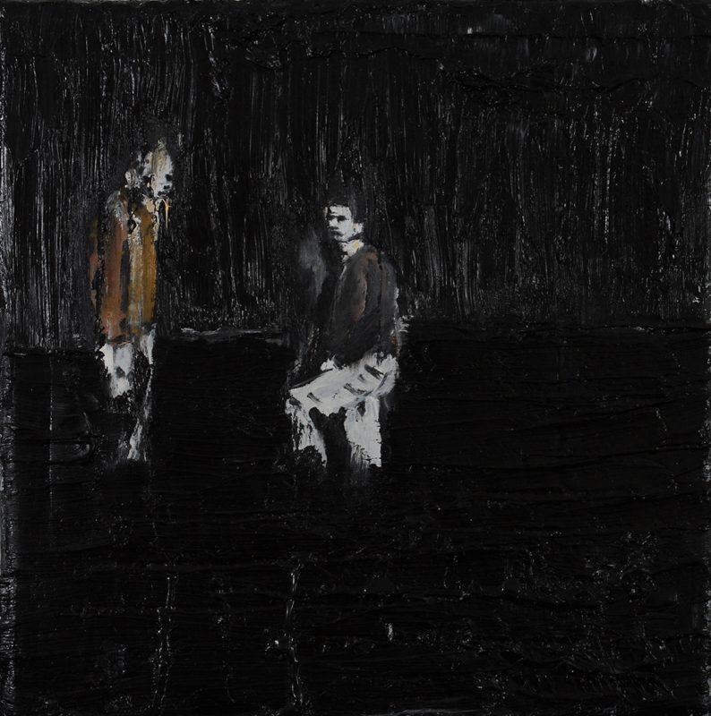 Luke Jackson | Desert | 2012 | Oil & mixed media on canvas | 20x20cm