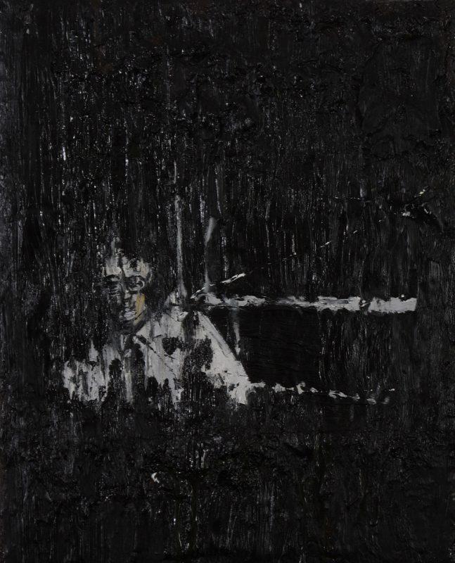 Luke Jackson | Mining | 2012 | Oil & mixed media on canvas | 20x16cm