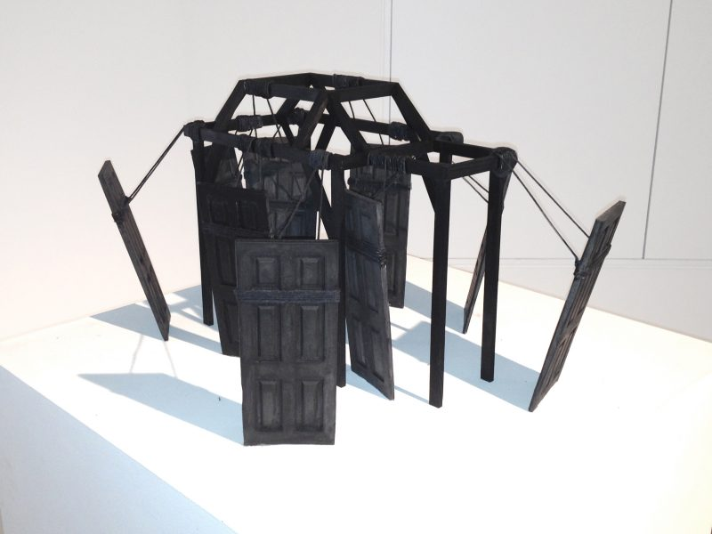 Nika Neelova  Partings ii   2012   Plaster, reclaimed timber & string (Ed. 5)  50x40x30cm