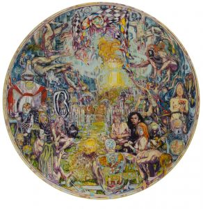 Dominic Shepherd | Judgement | 2013 | Oil on canvas | 150cm diameter