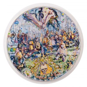Dominic Shepherd | The Family | 2012 | Oil on canvas | 100cm diameter