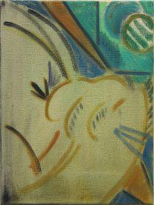 Kiera Bennett | Melodrama | 2013 | Oil on canvas | 40x30cm