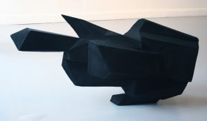 Richard Ducker | Dark Matter | 2011 | Compressed foam and flock | 110x60x60cm
