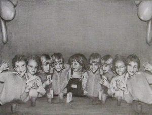 Susannah Douglas | Birthday Party 4 | 2013 | Pencil on paper | 12x16cm