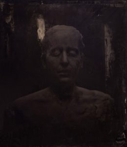 Virgile Ittah | And new sleep had that deprived memory | 2013 | Ambrotype, black wax | 60x50cm (Detail) | (1111×1280)