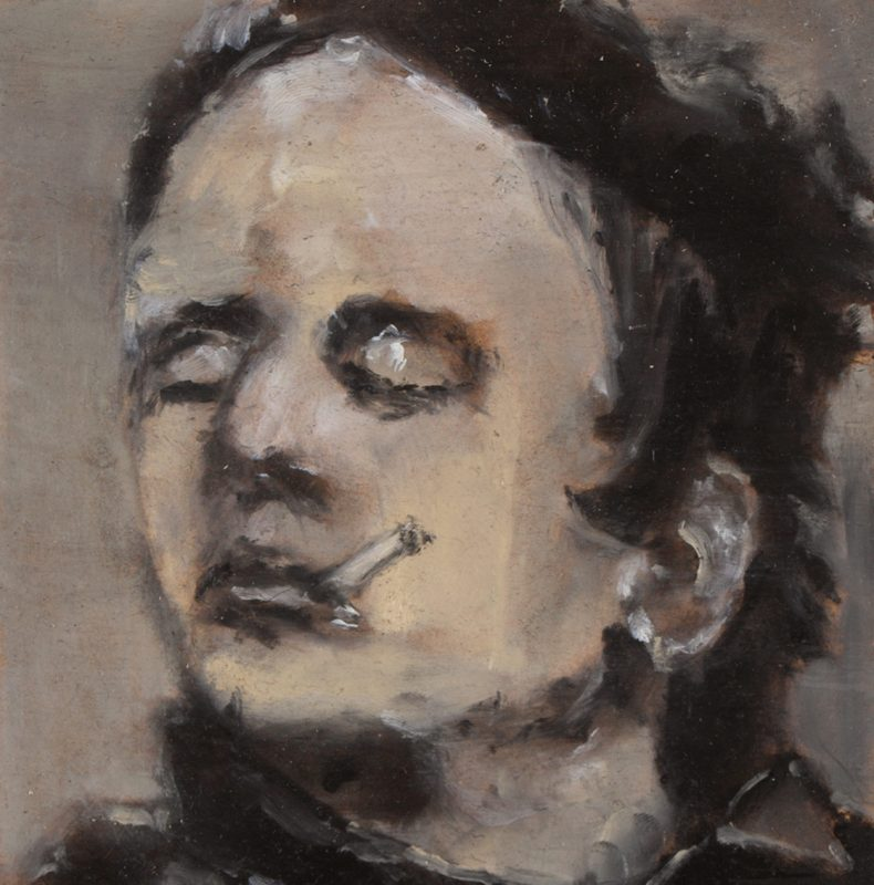 Sam Jackson | Bete a Concours | 2011 | Oil on board | 13×13.3cm