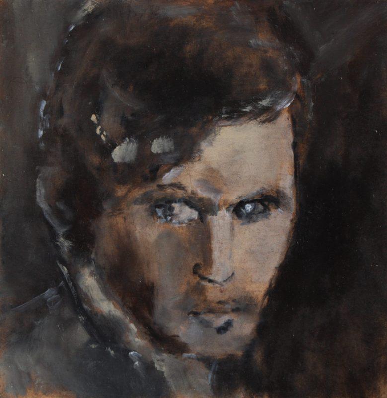 Sam Jackson | Edge of a Smile | 2011 | Oil on board | 13x13cm