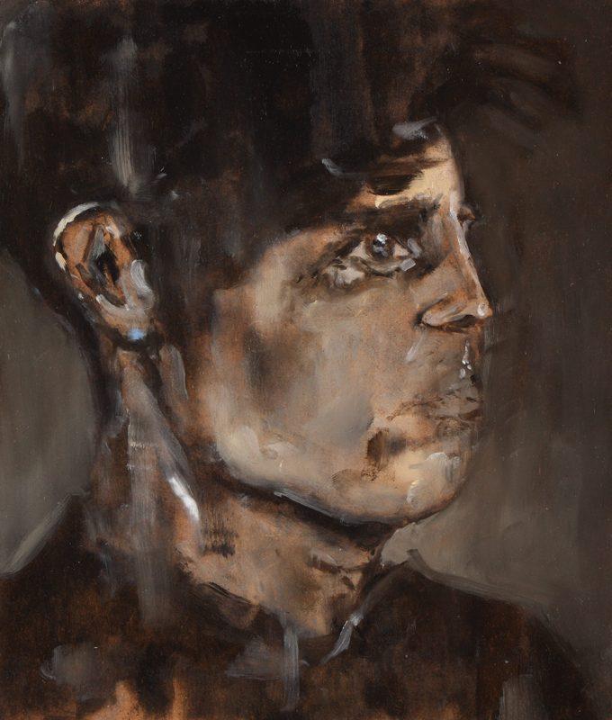 Sam Jackson | God Spying | 2011 | Oil on board | 21×17.8cm