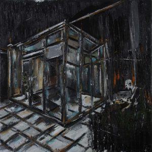 Luke Jackson | A Merger | 2012 | Oil & mixed media on canvas | 40.5×45.5cm