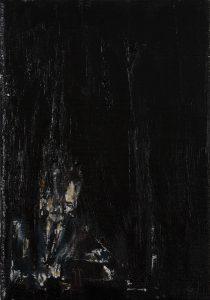 Luke Jackson | A Record | 2012 | Oil & mixed media on canvas | 21×14.5cm