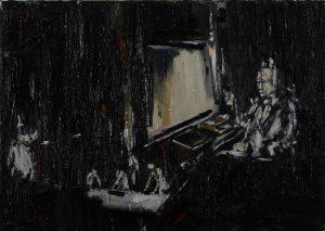 Luke Jackson | Textum | 2012 | Oil & mixed media on canvas | 25.5x35cm