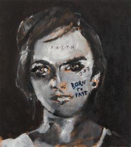 Sam Jackson | Born to Fast | 2014 | Oil on board | 26×23.2cm