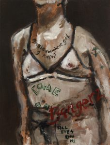 Sam Jackson | I'm the Toughest Girl I Know | 2014 | Oil on board | 26×19.5cm