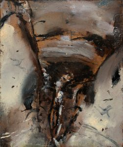 Sam Jackson | Knife, Clit | 2009 | Oil on panel | 11.2×9.2cm