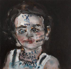 Sam Jackson | Sicker Than Most | 2014 | Oil on board | 19.5x20cm