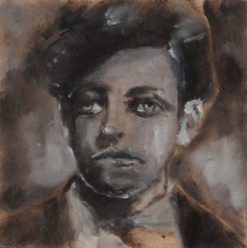 Sam Jackson | Young Rimbaud | 2011 | Oil on board | 15x15cm