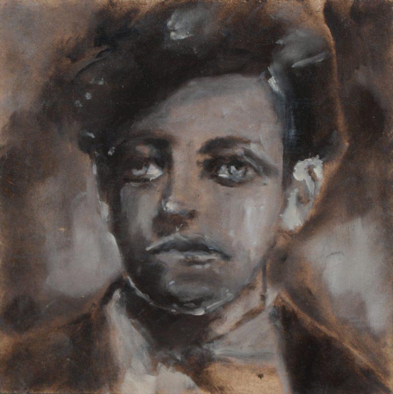 Sam Jackson | Young Rimbaud | 2011 | Oil on board | 15x15cm