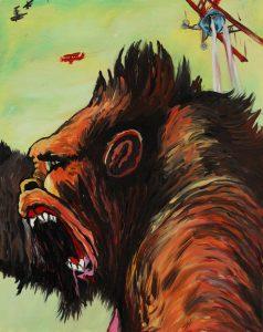 James Jessop | Kong Lives | 2011 | Acrylic on canvas | 50x40cm