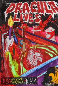 James Jessop | Red Dracula is Dead | 2011 | Marker on paper | 42x29cm