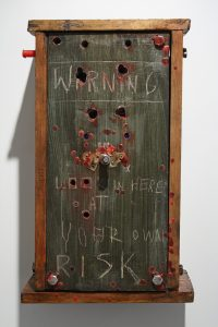 Jasper Joffe | The Cursed Box | 2009 | Wooden cabinet & mixed media | 50x30x20cm