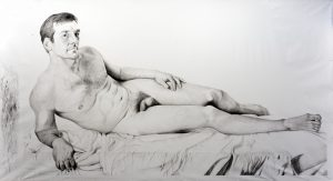 Benjamin Kustow | Pete | 2011 | Oil on canvas | 300x500cm | (640×347)