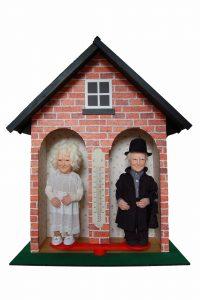 Wendy Mayer | Oes Gafr Eto | 2011 | Wood, wallpaper, wax, acrylic eyes, Welsh sheep fleece & mixed media | 175x130x60cm | (681×1024)