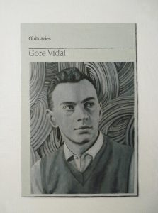 Hugh Mendes | Obituary: Gore Vidal | 2012 | Oil on linen | 35x25cm