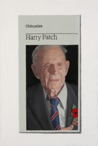 Hugh Mendes | Harry Patch | 2009 | Oil on linen | 30x20cm