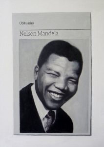 Hugh Mendes | Obituary Nelson Mandela 1 | 2014 | Oil on linen | 35x25cm | (909×1280)