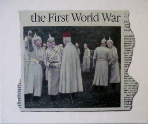 Hugh Mendes | The First World War | 2014 | Oil on linen | 25x30cm | (1280×1073)