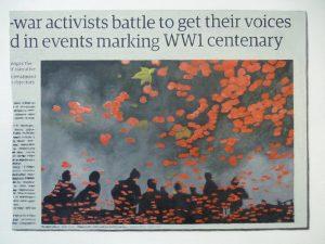 Hugh Mendes | War Activists… | 2014 | Oil on linen | 35x50cm | (1280×960)