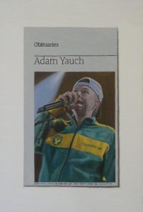 Hugh Mendes | Obituary: Adam Yauch | 2012 | Oil on linen | 30x20cm