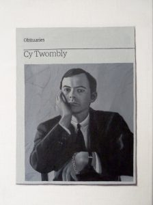 Hugh Mendes | Obituary: Cy Twombly | 2012 | Oil on linen | 35x25cm
