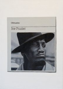 Hugh Mendes | Obituary: Joe Frazier | 2012 | Oil on linen | 35x25cm