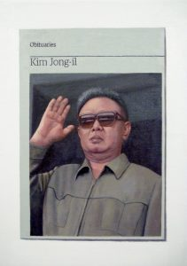 Hugh Mendes | Obituary: Kim Jong-il | 2012 | Oil on linen | 35x25cm