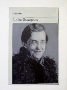 Hugh Mendes | Obituary: Louise Bourgeois | 2012 | Oil on linen | 35x25cm