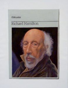 Hugh Mendes | Obituary: Richard Hamilton | 2012 | Oil on linen | 35x25cm