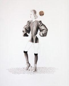 Kieran Moore | Star 80 | 2010 | Pencil & collage on paper | 39.3x32cm