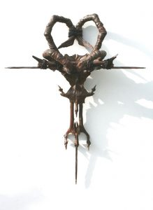 Seamus Moran | Devotion & Violence | 2010 | Resin, iron, rust, nails & leather