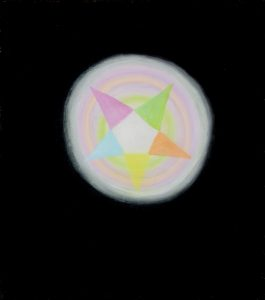 Alex Gene Morrison | Pentagram Appearing out of the Void | 2009 | Oil on linen | 50x45cm