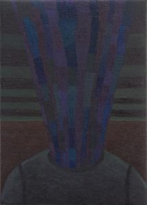Alex Gene Morrison | His Head It Explode | 2013 | Oil on jute | 35x25cm
