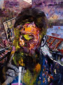 Gavin Nolan | Crash | 2013 | Oil on board | 122×91.5cm
