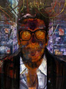 Gavin Nolan | The Visit | 2013 | Oil on board | 122×91.5cm