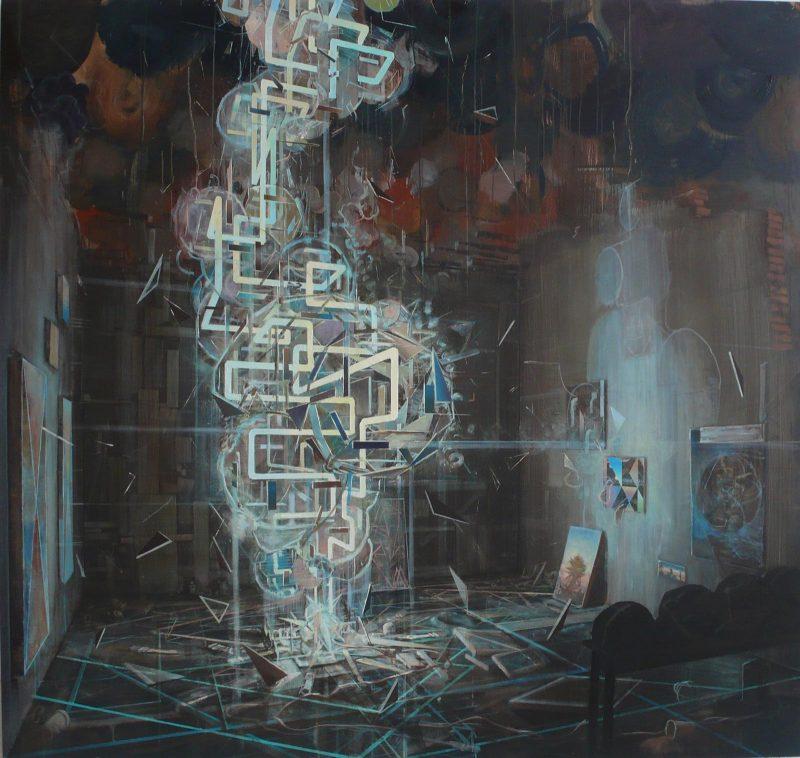 Tom Ormond | Inside Out | 2013 | Oil on linen | 183x193cm