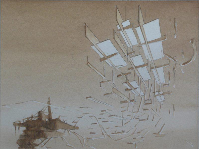 Tom Ormond | Platform Proposal | 2013 | Gouache on paper | 24x32cm