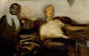 Sikelela Owen | Untitled | (Kilburn Lounge) | 2012 | Oil on canvas paper | 20×40.6cm | (1024×642)